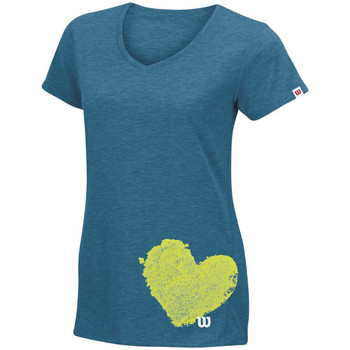 Vêtements Femme T-shirts manches courtes Wilson Summer Clay Heart Tech T Ultramarine