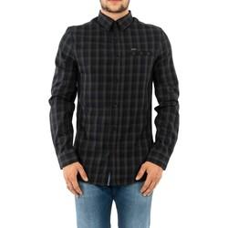 Vêtements Homme Chemises manches longues Guess m93h32 sunset pocket bleu