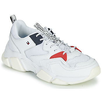 Chaussures Femme Baskets basses Tommy Hilfiger WMN CHUNKY MIXED TEXTILE TRAINER White / Red / Navy
