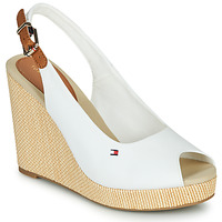 Chaussures Femme Sandales et Nu-pieds Tommy Hilfiger ICONIC ELENA SLING BACK WEDGE White