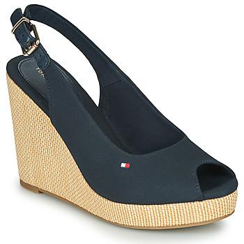 Chaussures Femme Sandales et Nu-pieds Tommy Hilfiger ICONIC ELENA SLING BACK WEDGE Navy