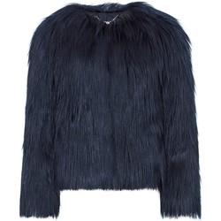 Vêtements Femme Manteaux Anastasia Veste en fausse fourrure mongole de luxe bleu marine Blue