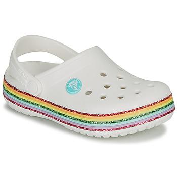 Chaussures Fille Sabots Crocs CROCBAND RAINBOW GLITTER CLG K Blanc