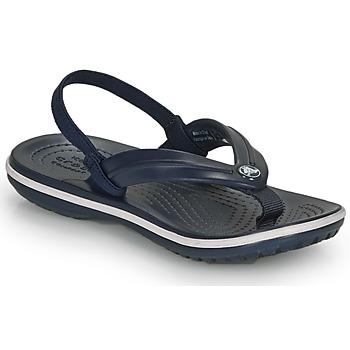 Chaussures Enfant Sandales et Nu-pieds Crocs CROCBAND STRAP FLIP K Marine