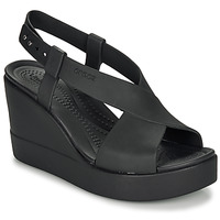 Chaussures Femme Sandales et Nu-pieds Crocs CROCS BROOKLYN HIGH WEDGE W Noir
