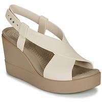 Chaussures Femme Sandales et Nu-pieds Crocs CROCS BROOKLYN HIGH WEDGE W Beige