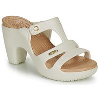 Chaussures Femme Mules Crocs CYPRUS V HEEL W Blanc