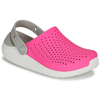 Chaussures Fille Sabots Crocs LITERIDE CLOG K Rose / blanc