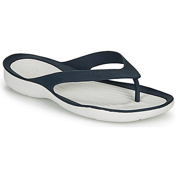 Chaussures Femme Tongs Crocs SWIFTWATER FLIP W Marine / blanc
