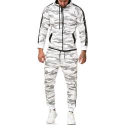 Vêtements Homme Ensembles de survêtement Monsieurmode Survetement camouflage Survêt 1011 blanc Blanc