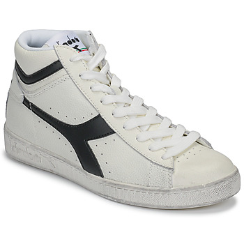 Chaussures Baskets montantes Diadora GAME L HIGH WAXED Blanc / noir