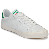 Chaussures Femme Baskets basses Diadora MELODY LEATHER DIRTY Blanc / vert