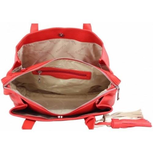 Fuchsia Sac à main L  Arton pompon rouge Multicolor 16477158