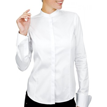 Vêtements Femme Chemises / Chemisiers Andrew Mc Allister chemise col mao lexington blanc Blanc