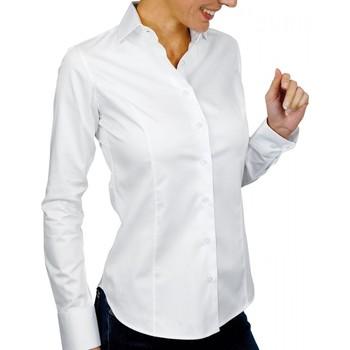 Vêtements Femme Chemises / Chemisiers Andrew Mc Allister chemise col italien lincoln blanc Blanc