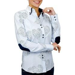 Vêtements Femme Chemises / Chemisiers Andrew Mc Allister chemise a coudieres melbourne bleu Bleu