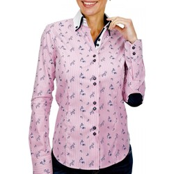 Vêtements Femme Chemises / Chemisiers Andrew Mc Allister chemise a coudieres melbourne rose Rose
