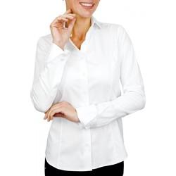 Vêtements Femme Chemises / Chemisiers Andrew Mc Allister chemise col claudine seattle blanc Blanc