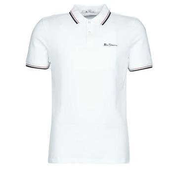 Vêtements Homme Polos manches courtes Ben Sherman SIGNATURE POLO Blanc / Noir