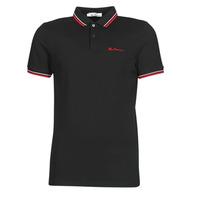 Vêtements Homme Polos manches courtes Ben Sherman SIGNATURE POLO Noir / Rouge / Blanc