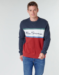 Vêtements Homme Sweats Ben Sherman COLOUR BLOCKED LOGO SWEAT Marine / Rouge