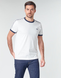 Vêtements Homme T-shirts manches courtes Fred Perry TAPED RINGER T-SHIRT Blanc