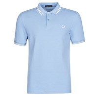 Vêtements Homme Polos manches courtes Fred Perry TWIN TIPPED FRED PERRY SHIRT Bleu