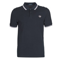 Vêtements Homme Polos manches courtes Fred Perry TWIN TIPPED FRED PERRY SHIRT Bleu / Blanc