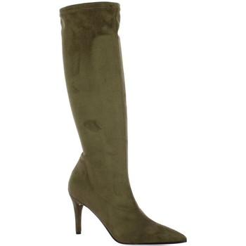 Chaussures Femme Bottes ville Elizabeth Stuart Bottes cuir velours Taupe