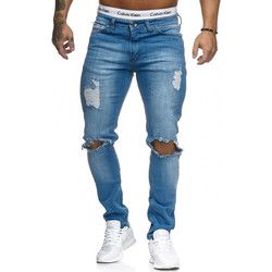 Vêtements Homme Jeans slim Kc 1981 Jean déchiré homme Jean fashion 5118 bleu Bleu