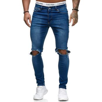 Vêtements Homme Jeans slim Kc 1981 Jean homme déchiré Jean 5130 bleu Bleu