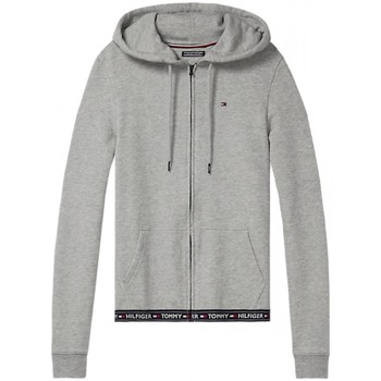 Vêtements Femme Sweats Tommy Hilfiger Sweat Zippé à Capuche Bande Gris Chine