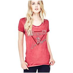 Vêtements Femme T-shirts manches courtes Guess T-Shirt Femme Los Angeles W81I72 Rose