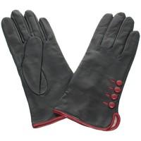 Accessoires textile Femme Gants Glove Story Gants en cuir agneau ref_glo23659 102 noir rouge Noir