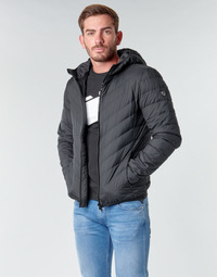 Vêtements Homme Doudounes Emporio Armani EA7 TRAIN CORE SHIELD M DOWN LIGHT HOODIE JACKET Noir