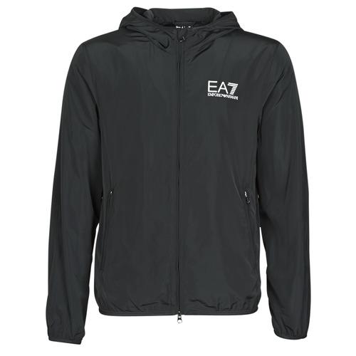 Vêtements Homme Coupes vent Emporio Armani EA7 TRAIN CORE ID M JACKET Noir