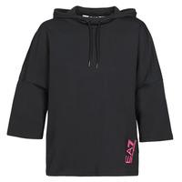 Vêtements Femme Sweats Emporio Armani EA7 TRAIN GRAPHIC SERIES W HOODIE CN GRAPHIC INSERT Noir/Fleuri Multico