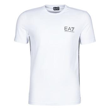 Vêtements Homme T-shirts manches courtes Emporio Armani EA7 TRAIN LOGO SERIES M TAPE TEE ST Blanc