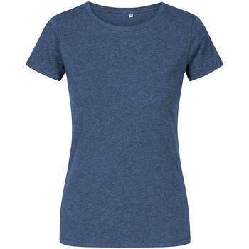 Vêtements Femme T-shirts manches courtes X.o By Promodoro T-shirt col rond grandes tailles Femmes Bleu marine chiné