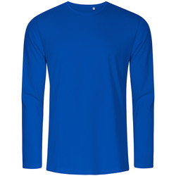 Vêtements Homme T-shirts manches longues Promodoro T-shirt manches longues col rond grandes tailles Hommes bleu azure