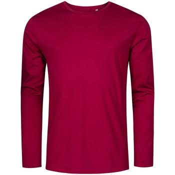 Vêtements Homme T-shirts manches longues Promodoro T-shirt manches longues col rond Hommes framboise