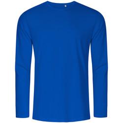 Vêtements Homme T-shirts manches longues X.o By Promodoro T-shirt manches longues col rond Hommes bleu azure