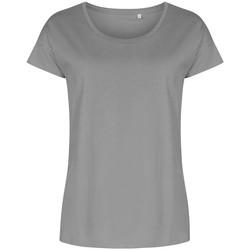 Vêtements Femme T-shirts manches courtes X.o By Promodoro T-shirt oversize grandes tailles Femmes gris acier
