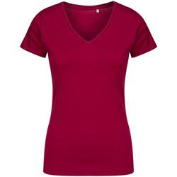 Vêtements Femme T-shirts manches courtes X.o By Promodoro T-shirt col V Femmes framboise
