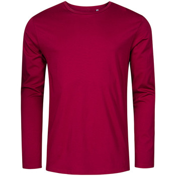 Vêtements Homme T-shirts manches longues X.o By Promodoro T-shirt manches longues col rond grandes tailles Hommes framboise
