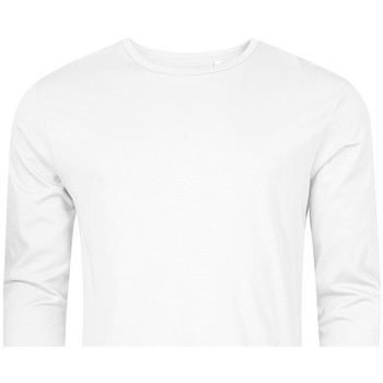 Vêtements Homme T-shirts manches longues X.o By Promodoro T-shirt manches longues col rond grandes tailles Hommes blanc