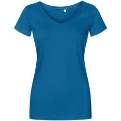 Vêtements Femme T-shirts manches courtes Promodoro T-shirt col V grandes tailles Femmes pétrole