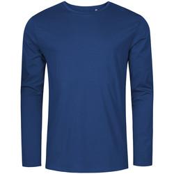 Vêtements Homme T-shirts manches longues X.o By Promodoro T-shirt manches longues col rond grandes tailles Hommes bleu marine français