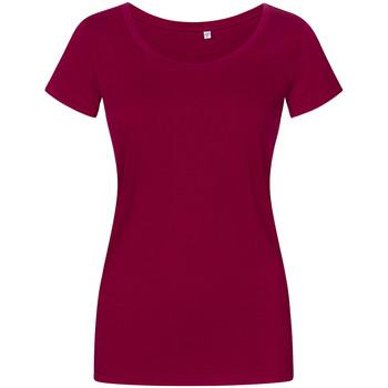 Vêtements Femme T-shirts manches courtes Promodoro T-shirt décolleté grande taille Femmes framboise