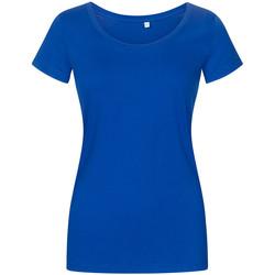 Vêtements Femme T-shirts manches courtes Promodoro T-shirt décolleté grande taille Femmes bleu azure